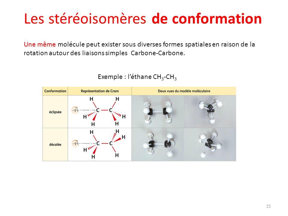 Les stéréoisomères de conformation