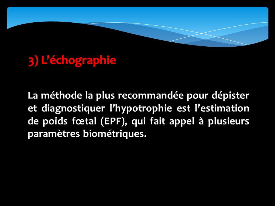 3) L'échographie
