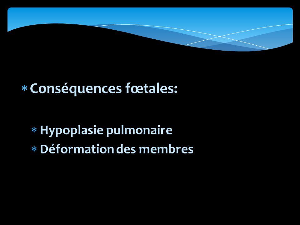 Conséquences fœtales: