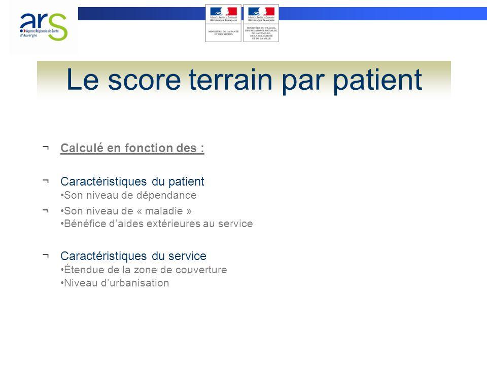 Le score terrain par patient