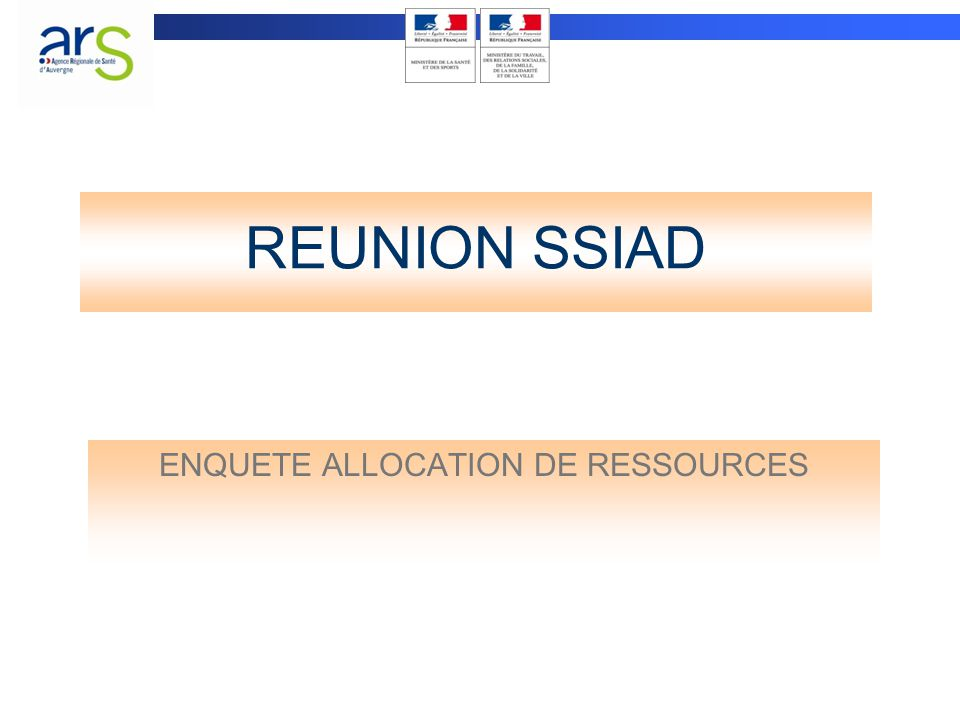 ENQUETE ALLOCATION DE RESSOURCES