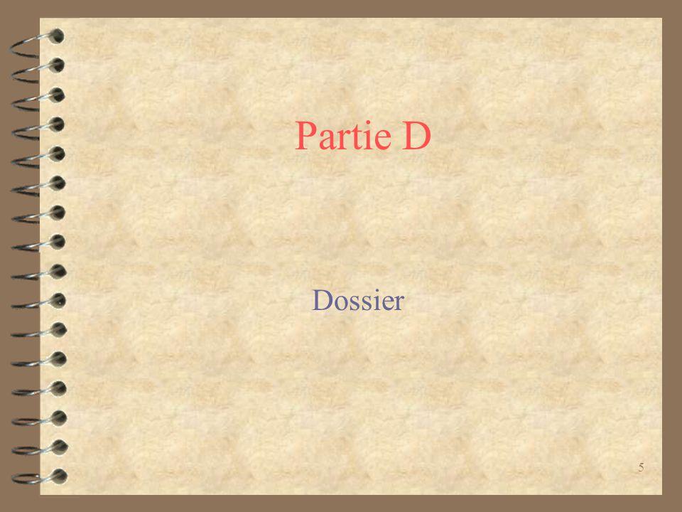 Partie D Dossier