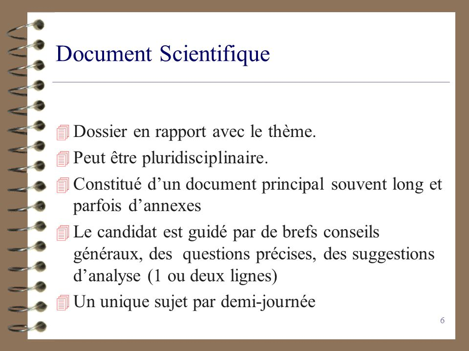 Document Scientifique