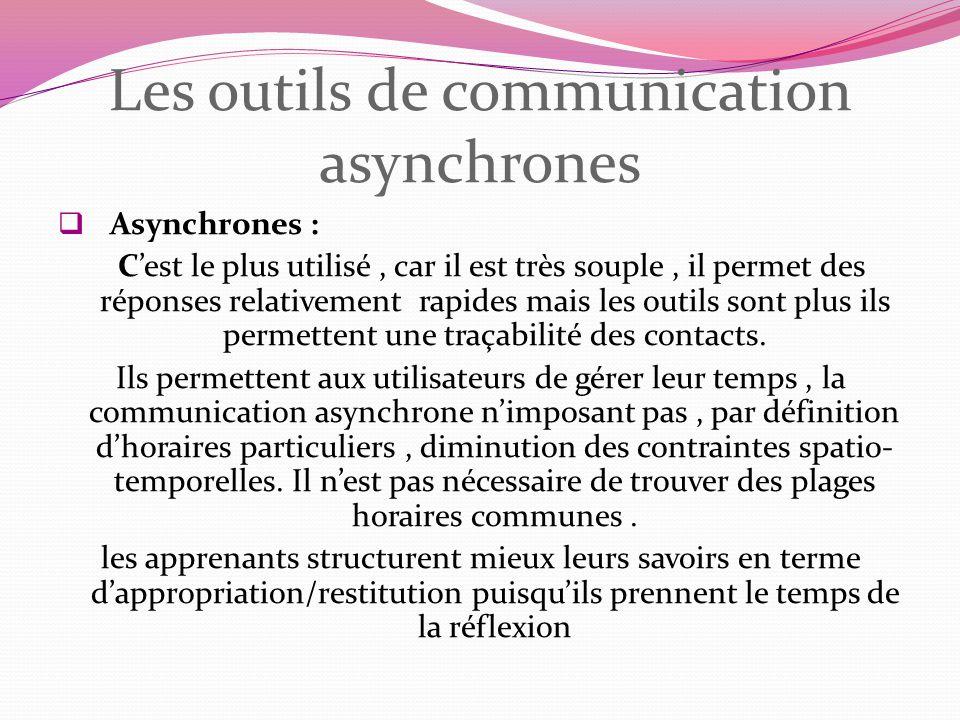 Les outils de communication asynchrones