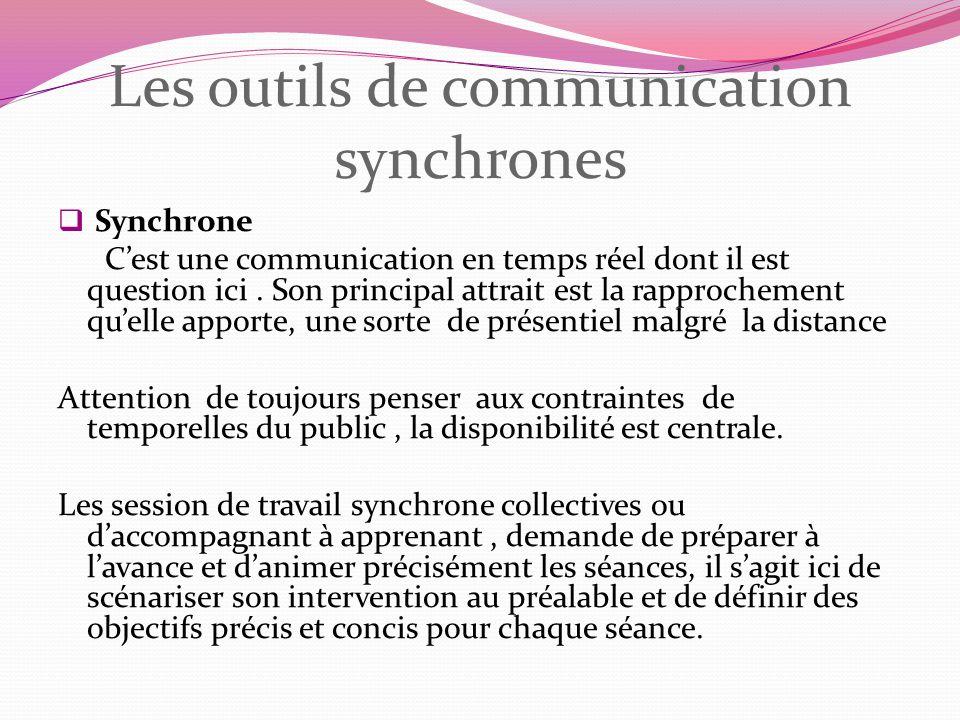 Les outils de communication synchrones