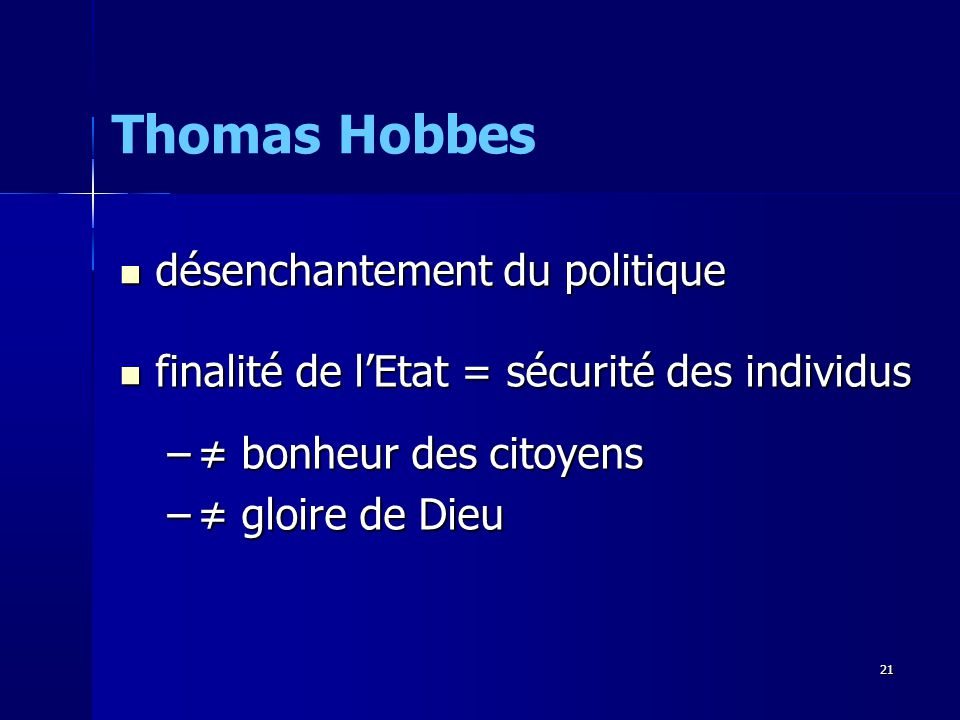 Thomas Hobbes désenchantement du politique
