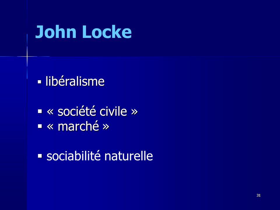 John Locke « société civile » « marché » sociabilité naturelle