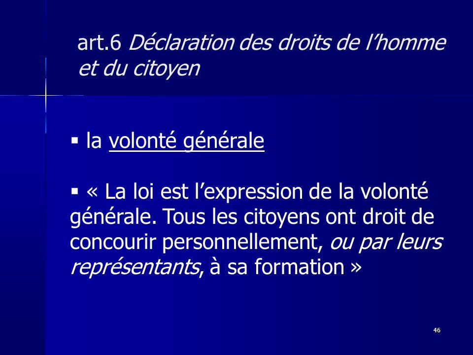 art.6 Déclaration des droits de l'homme et du citoyen