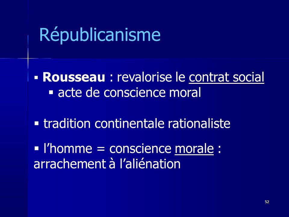 Républicanisme acte de conscience moral