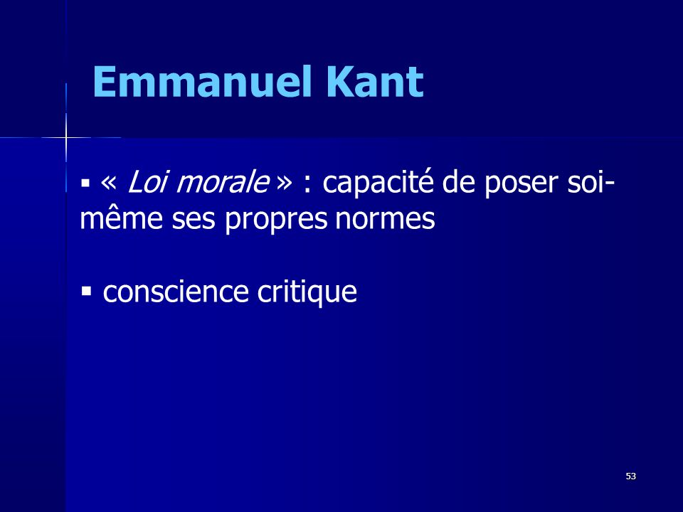 Emmanuel Kant conscience critique