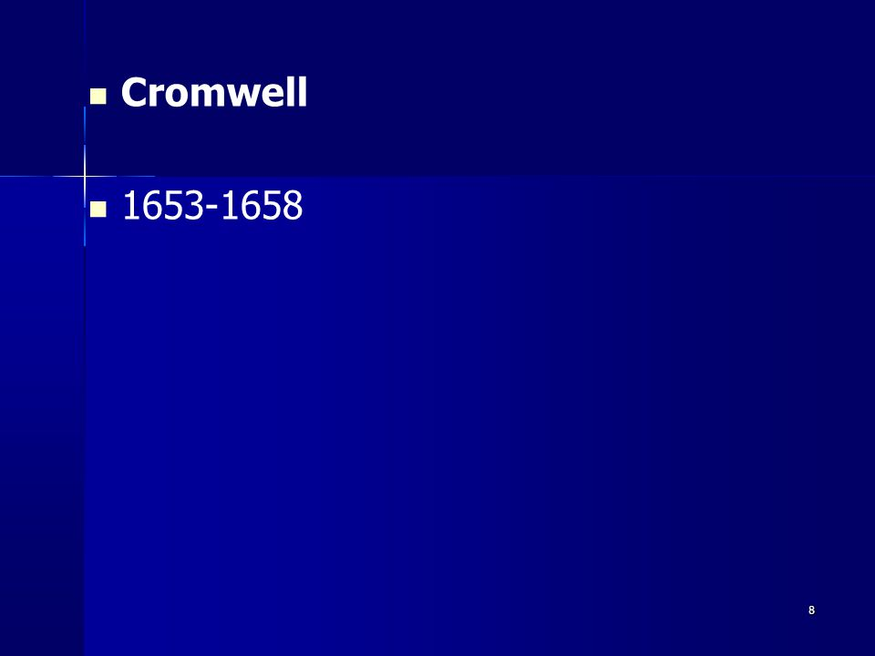Cromwell 1653-1658 8 8