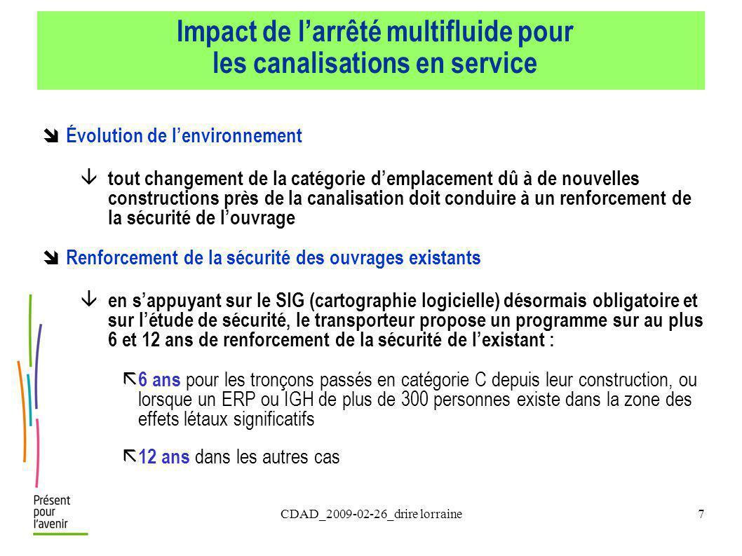 Impact de l'arrêté multifluide pour les canalisations en service