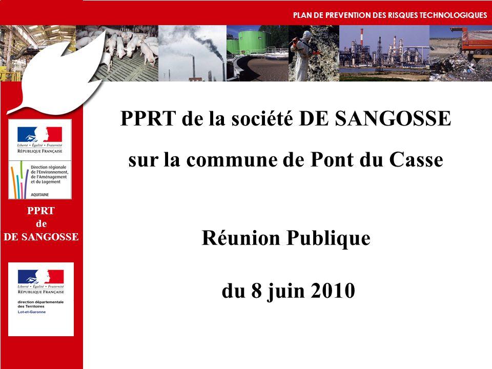 PPRT de la société DE SANGOSSE sur la commune de Pont du Casse
