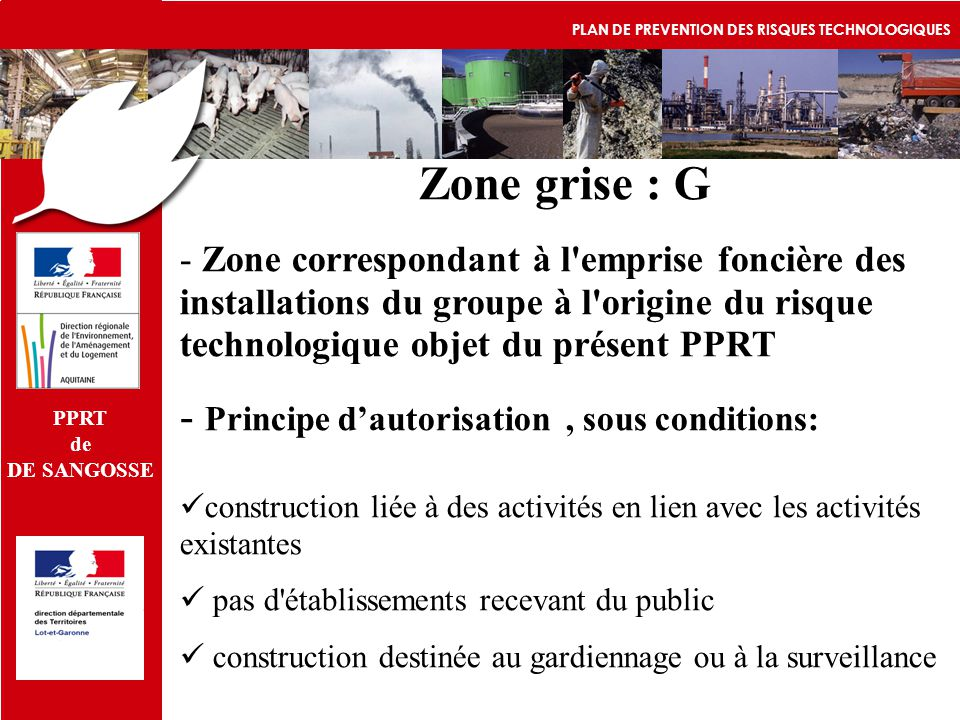 Zone grise : G Principe d'autorisation , sous conditions: