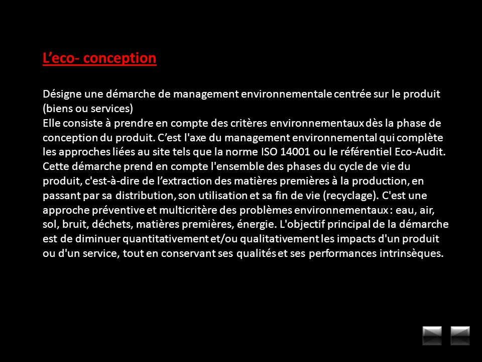 L'eco- conception