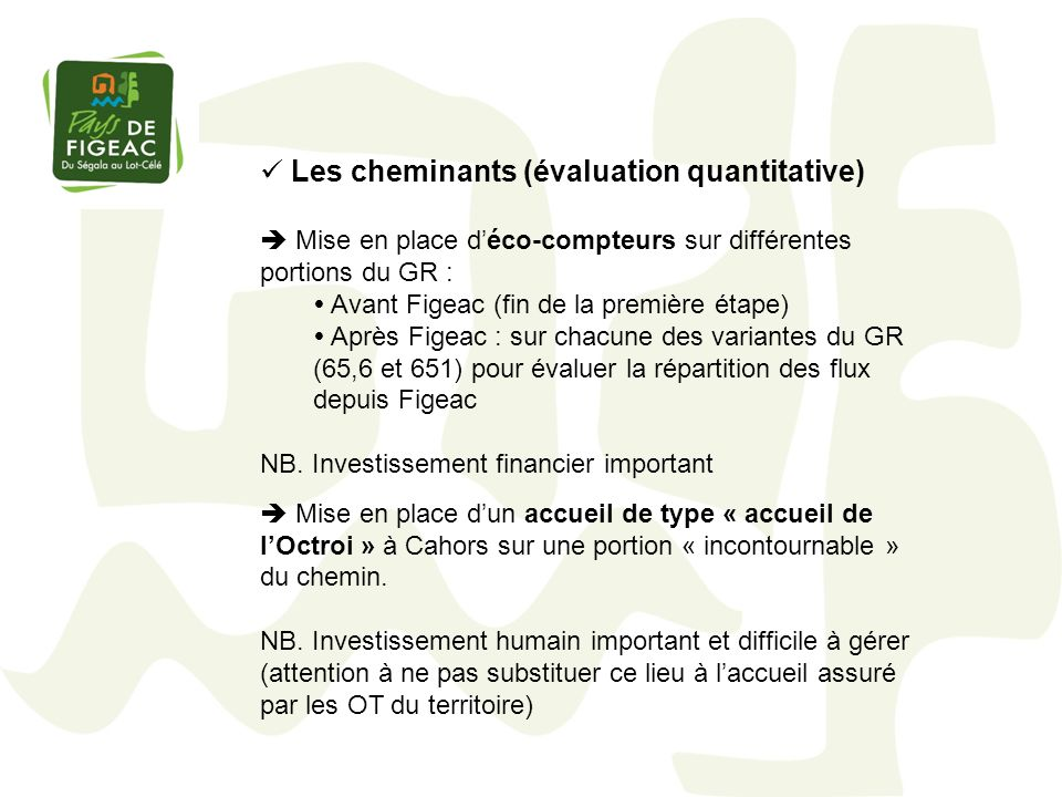 Les cheminants (évaluation quantitative)
