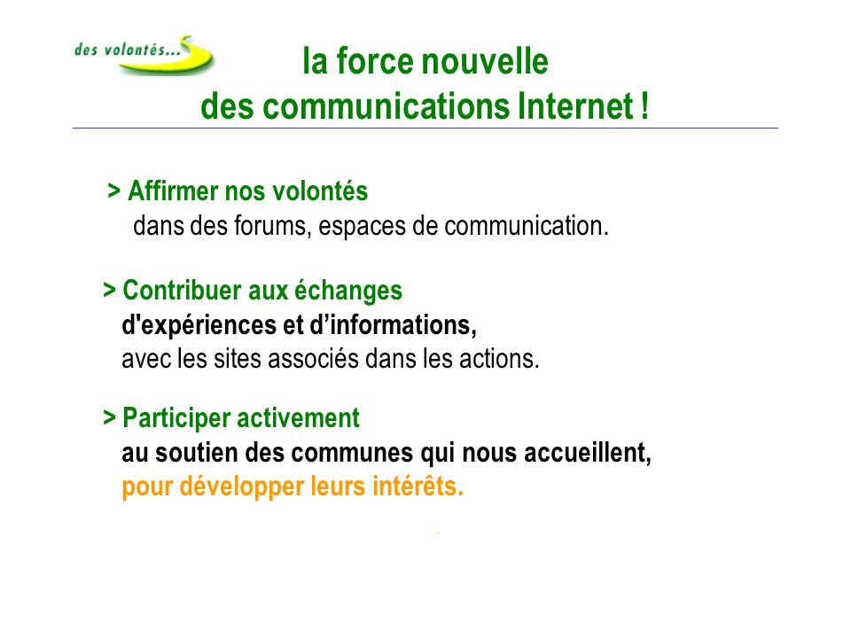 Force nouvelle Internet