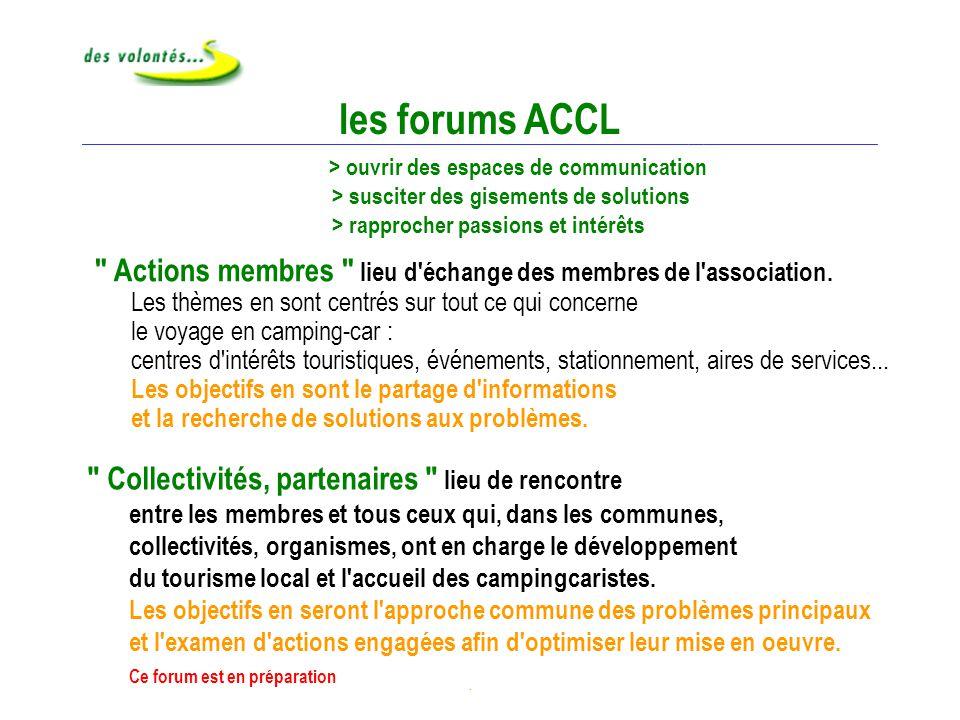 Forums ACCL les forums ACCL.