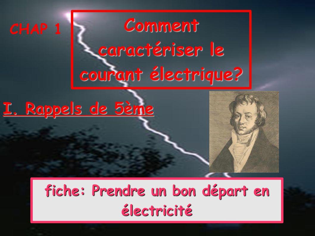 Comment caractériser le courant électrique
