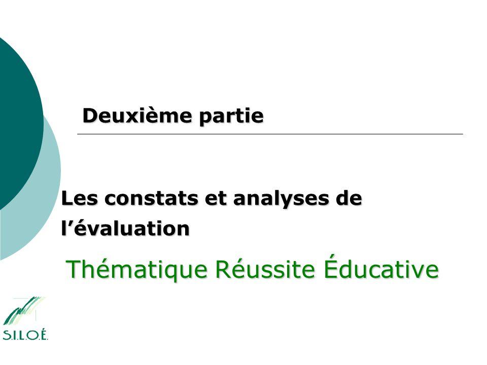 Partie 1 : Les objectifs de l évaluation