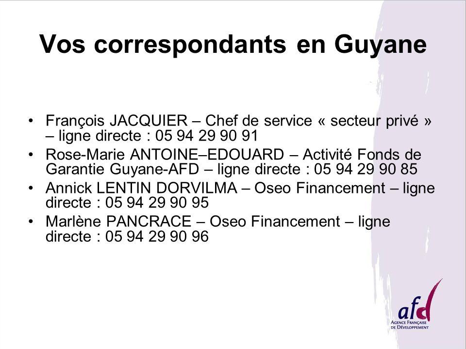 Vos correspondants en Guyane