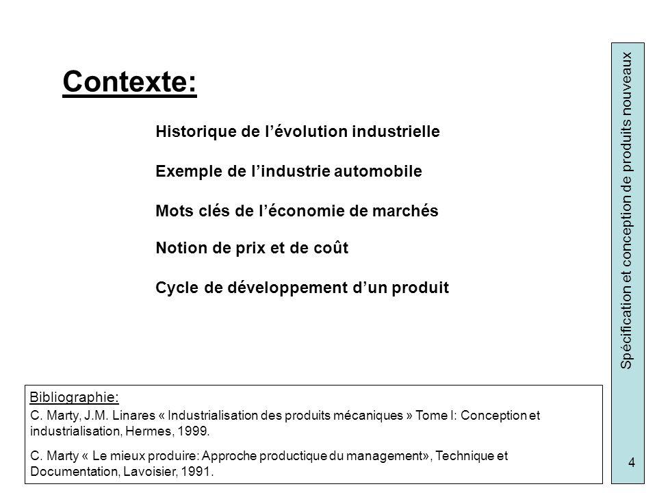Contexte: Historique de l'évolution industrielle