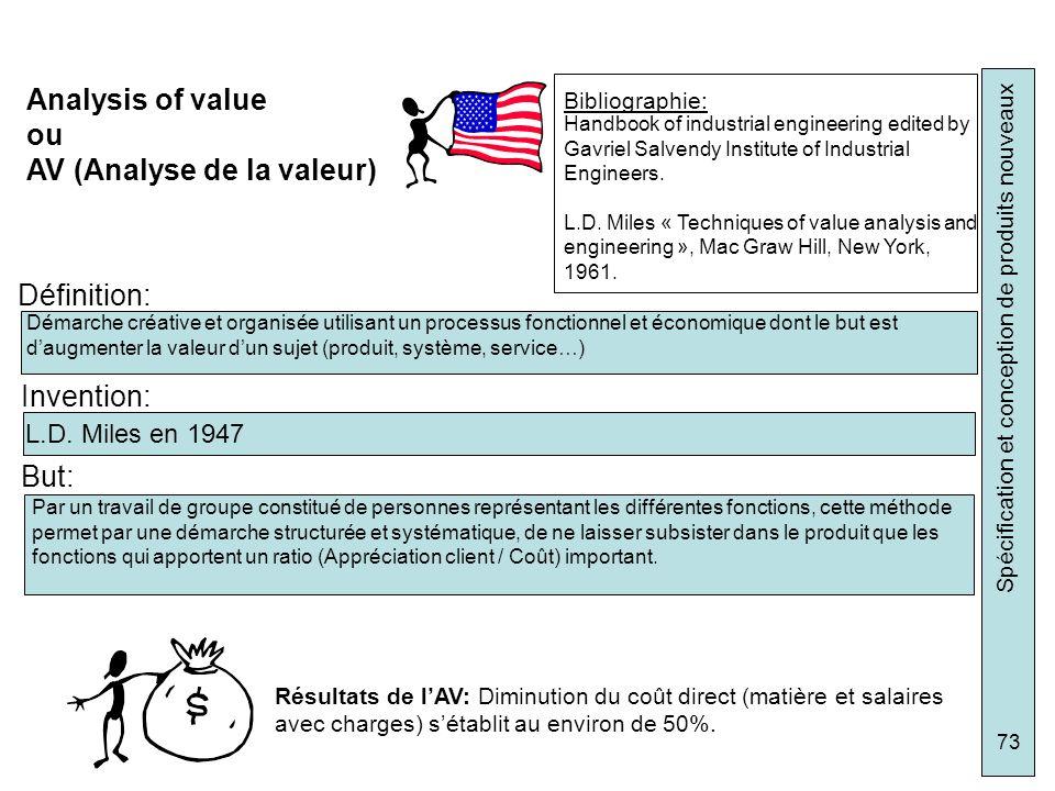 AV (Analyse de la valeur)