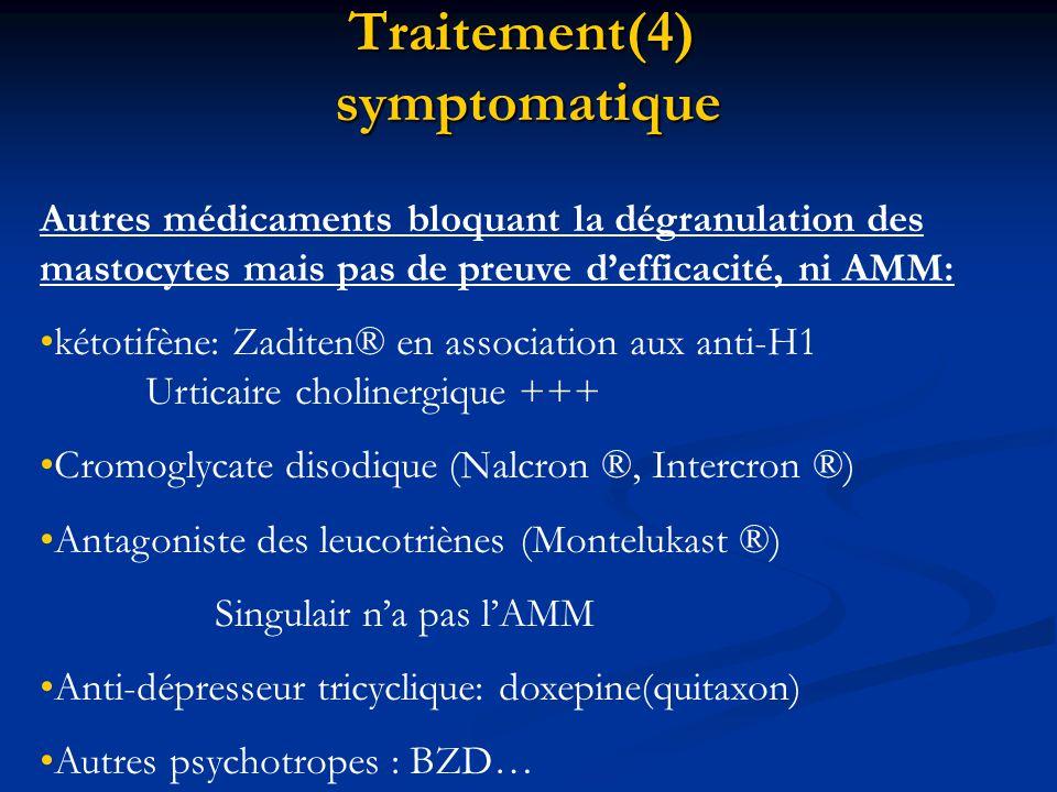 Traitement(4) symptomatique