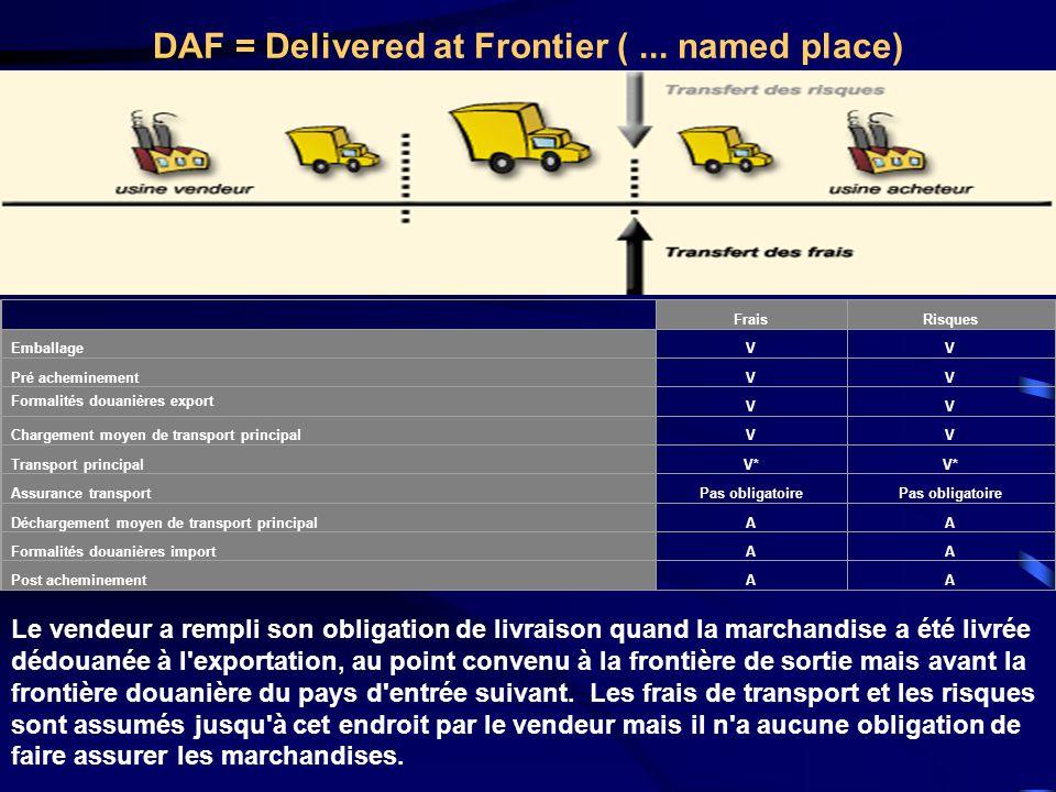 DAF = Delivered at Frontier ( ... named place)