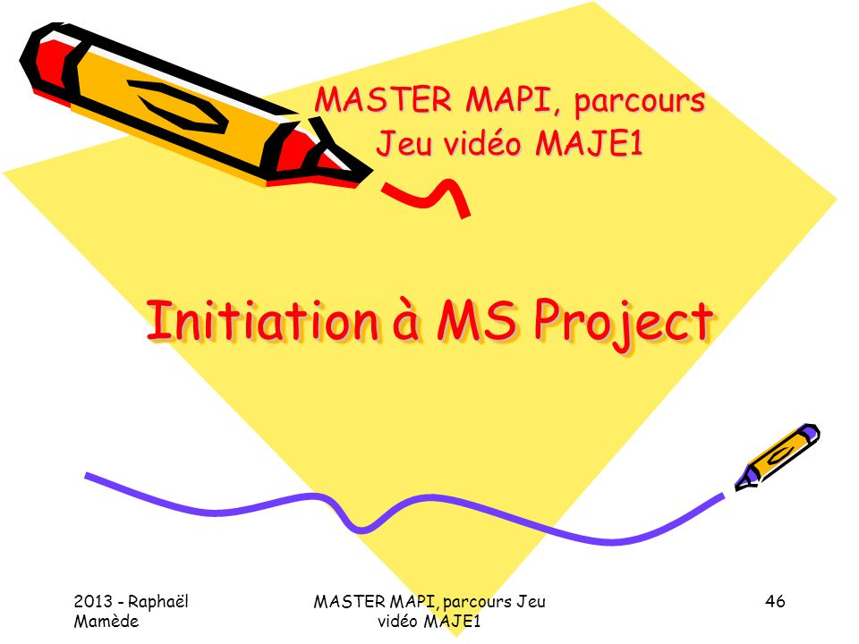 Initiation à MS Project