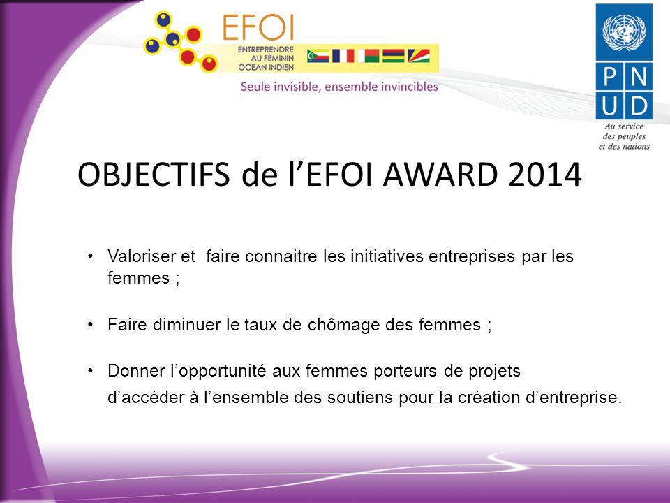 OBJECTIFS de l'EFOI AWARD 2014
