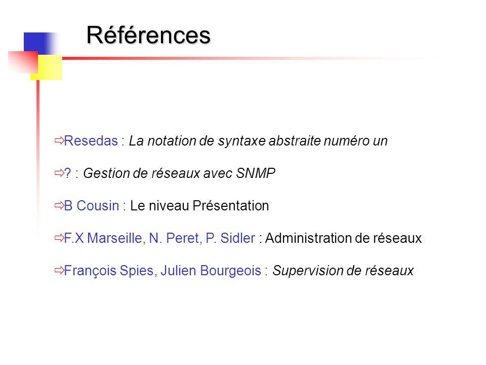 Références Resedas : La notation de syntaxe abstraite numéro un