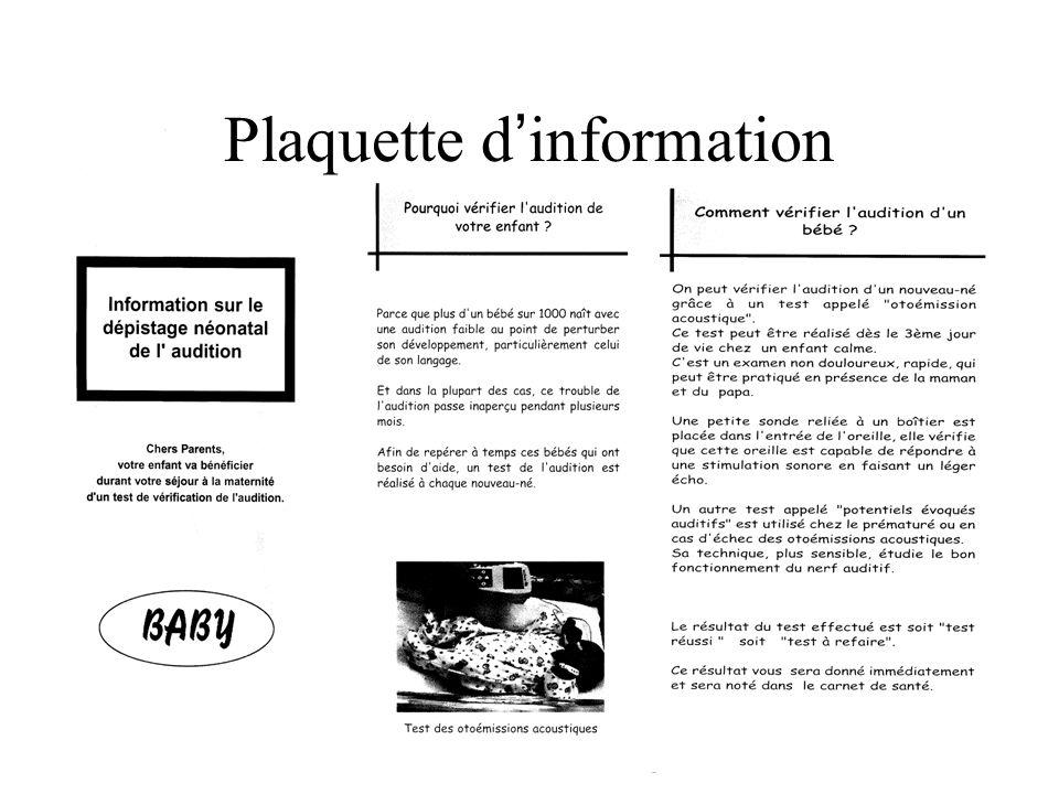 Plaquette d'information