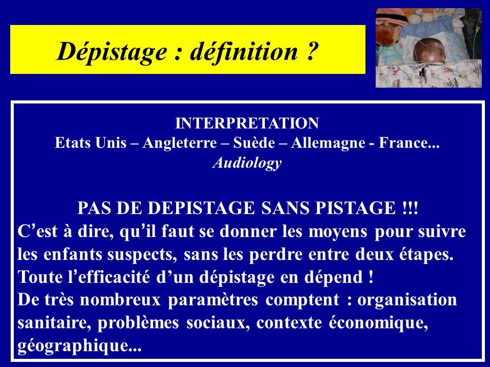 Dépistage : définition