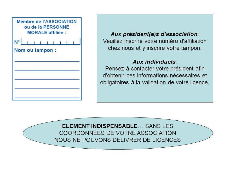 Aux président(e)s d'association:
