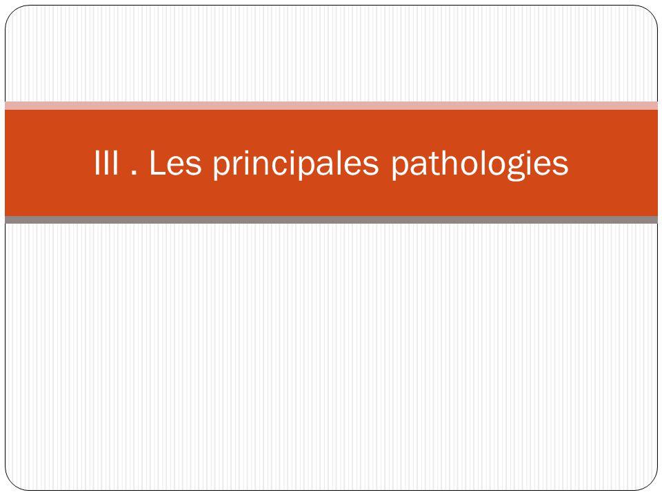 III . Les principales pathologies