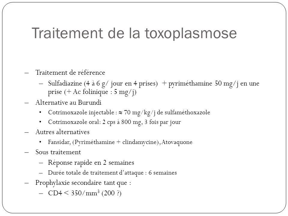 Traitement de la toxoplasmose