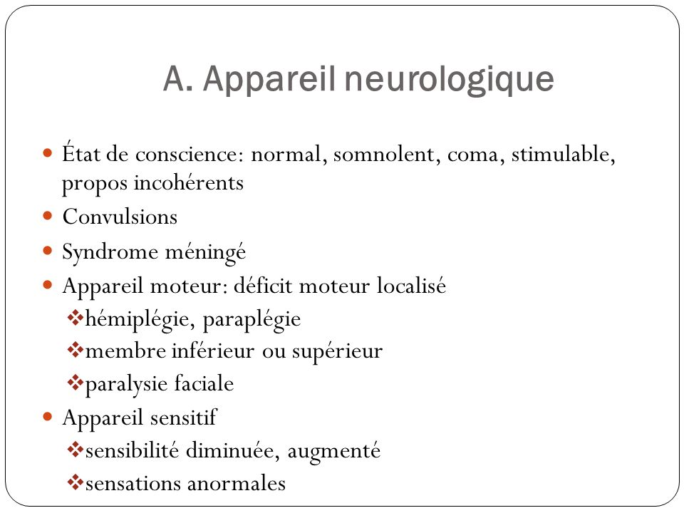 A. Appareil neurologique
