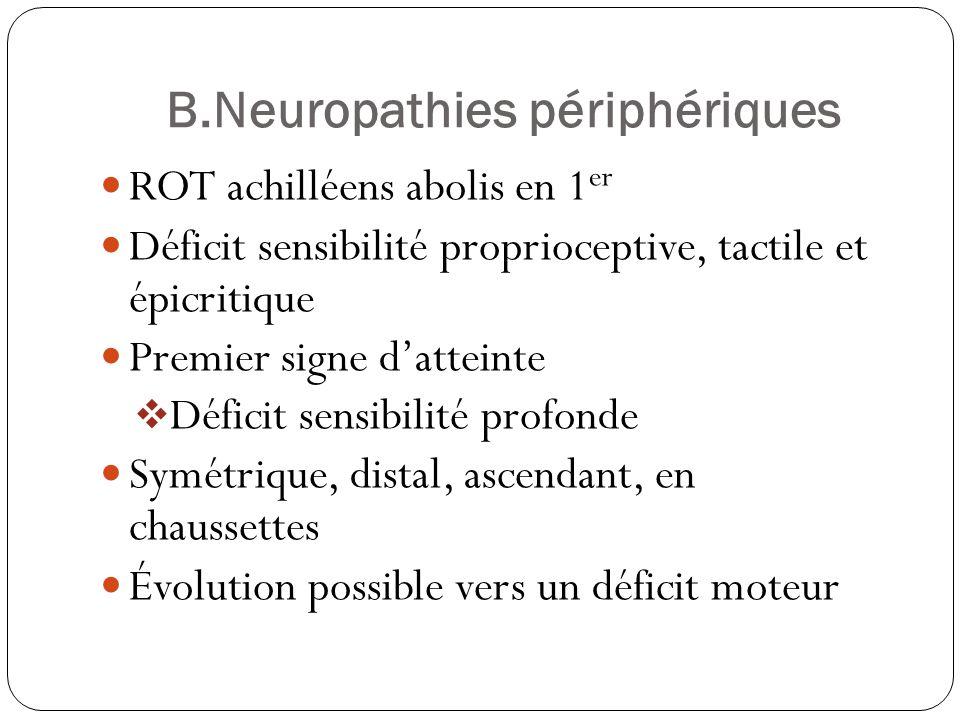 B.Neuropathies périphériques