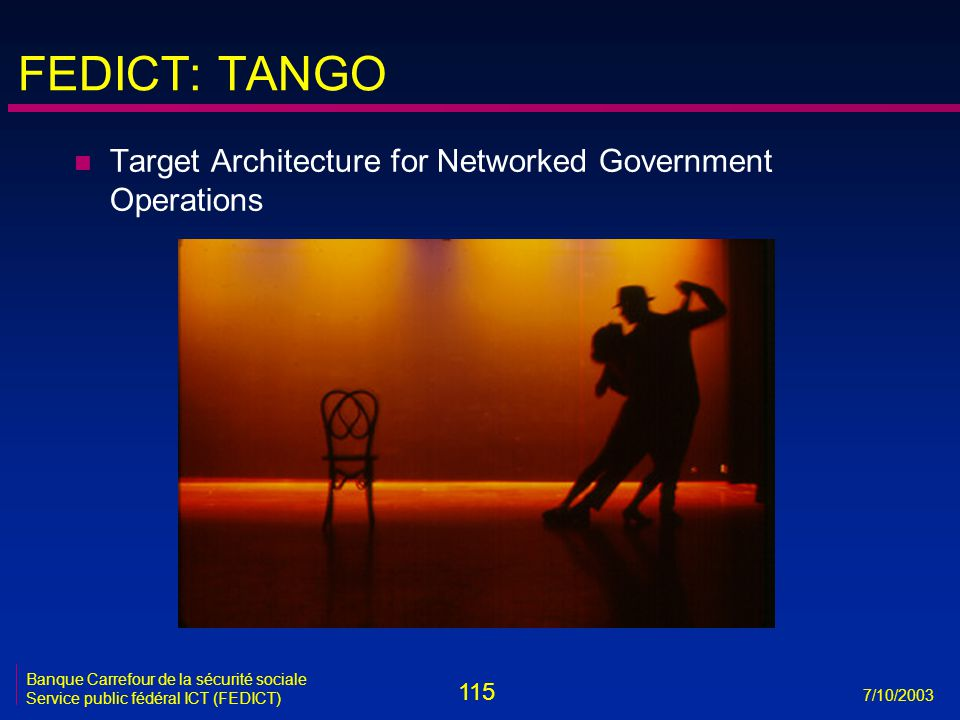 FEDICT: TANGO Target Architecture for Networked Government Operations