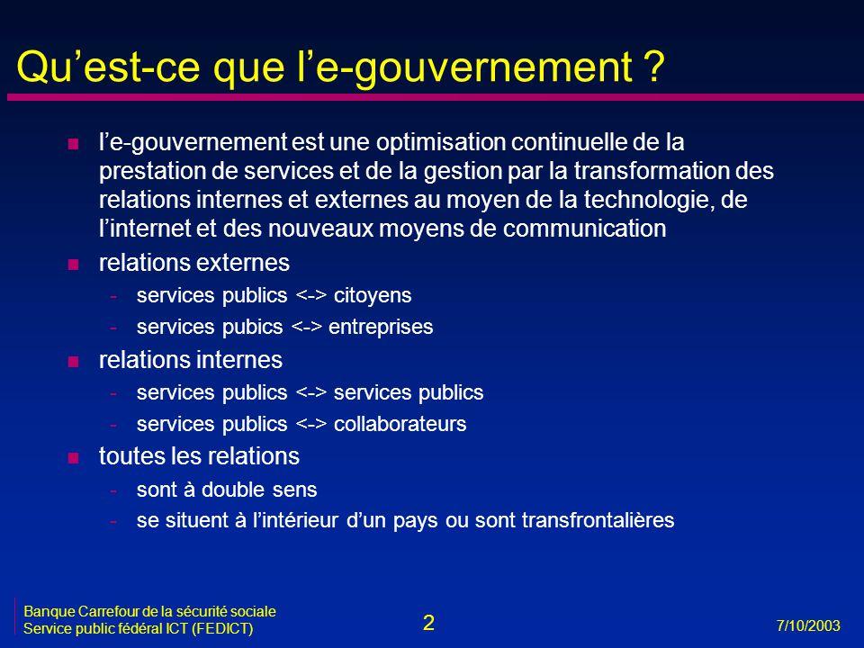 Qu'est-ce que l'e-gouvernement