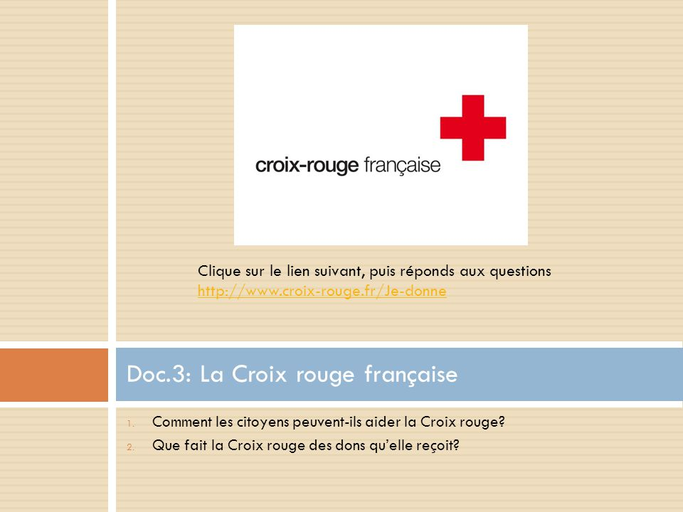 Doc.3: La Croix rouge française