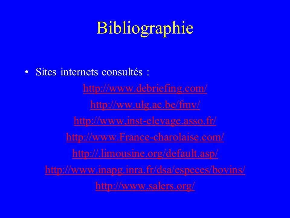 Bibliographie Sites internets consultés : http://www.debriefing.com/