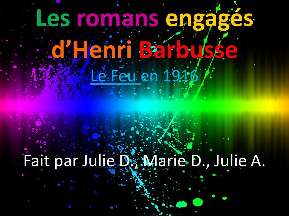 Les romans engagés d'Henri Barbusse