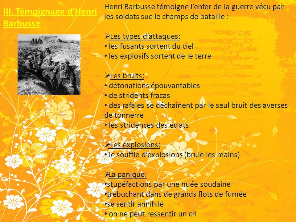 III. Témoignage d'Henri Barbusse