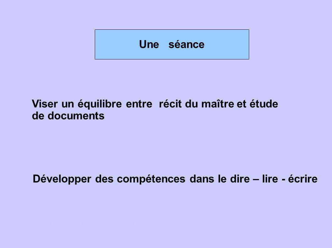 Viser un équilibre entre récit du maître et étude de documents