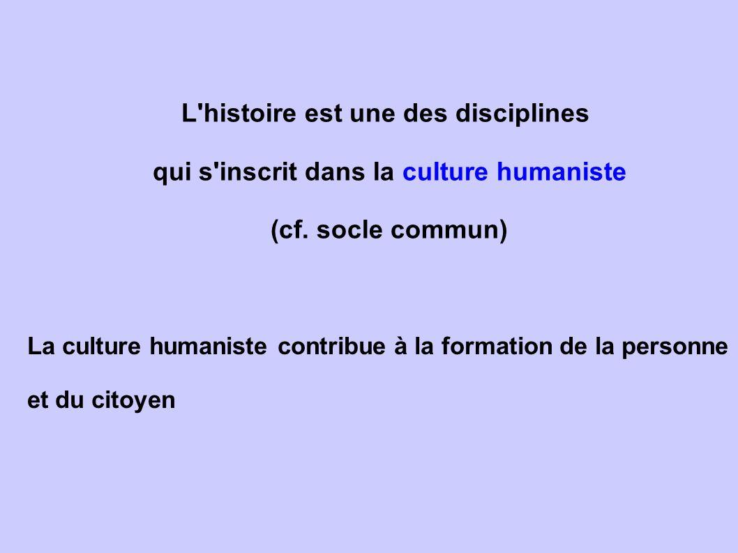 L histoire est une des disciplines