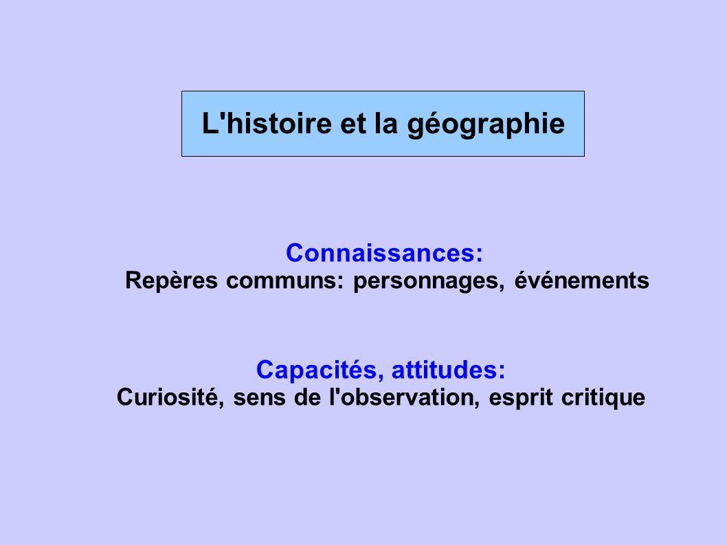 L histoire et la géographie