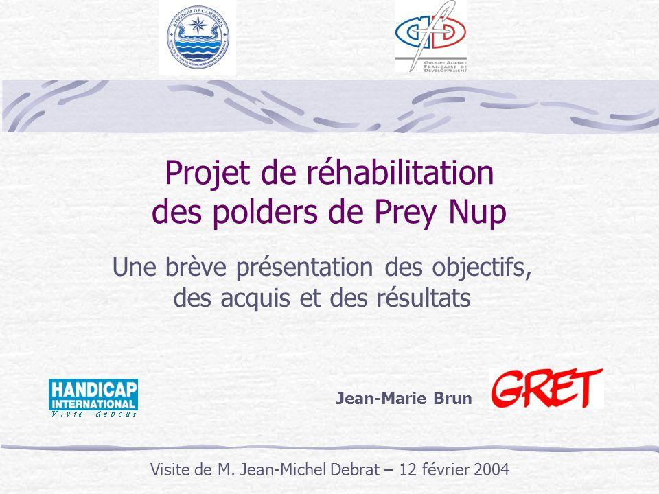Projet de réhabilitation des polders de Prey Nup