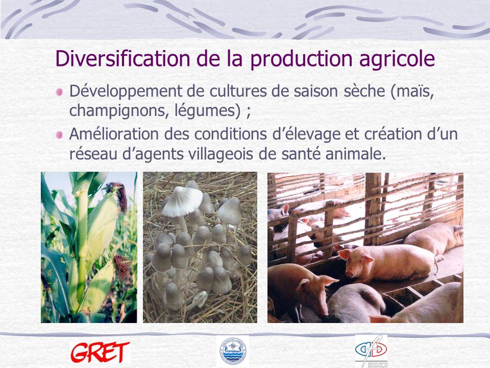 Diversification de la production agricole